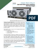 Paradise Datacom Indoor GaN 4RU SSPA Datasheet