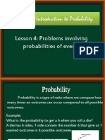 examples and discussions of probabilities of events