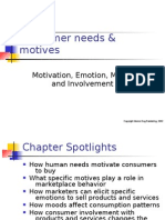 Ppt on Consumer Needs and Motives