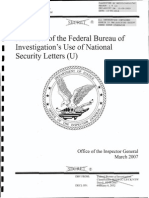 DOJ OIG Review of FBI's Use of National Security Letters 2003-2005