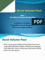 Pengujian Berat Volume Pasir