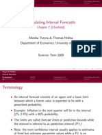 Interval Forecasts