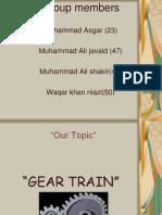 g3 Gear Trains 1of 2