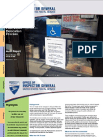 U.S. Postal Service Office of Inspector General Post Office Relocation Process Audit Report | September 2014