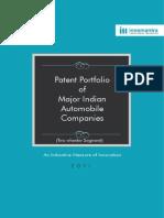 Patent portfolio of major indian automobile companies 2014