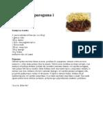 Junetina sa šparogama i slaninom