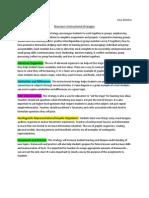 six instructional strategies