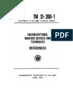 Unconventional Warfare Devices & Techniques - References - TM_31-200-1