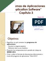 Programas de aplicaciones y  Word 2013