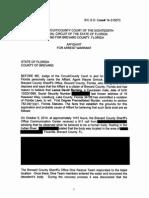 Lance David Berning Affidavit For Arrest Warrant
