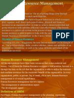 Human Resource Management-BBA 2nd Sem