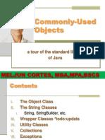 MELJUN CORTES JAVA_CommonlyUsedObjects