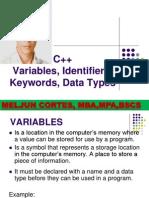 MELJUN CORTES C++_Variables_Keywords_Data_Types