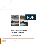 Design of Foundations for Wind Tur