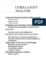 Analyzing Manufacturing Facility Layouts