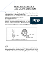 Study of Jig and Fixture for Drilling and Milling Operations