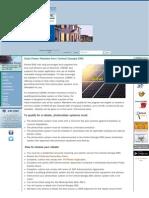 Central Georgia Solar PV Rebate Program