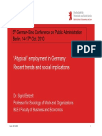 5th German Sino Conference Atypical Employment in Germany - Recent Trends and Social Implications