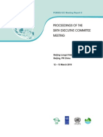 Proceedings of the Sixth Executive Committee Meeting