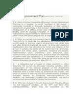 School Improvement PlanPresentation Transcript