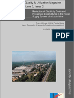 Reduction of Electricity Costs and Investment Expenditures in a Power Supply System on the Example of Lubin Mine