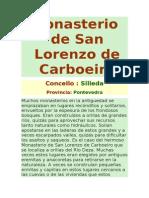 Monasterio de San Lorenzo de Carboeiro.doc