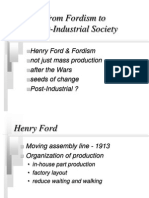 Fordism & Post-Industrial Society