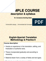5 Course Description and Syllabus