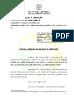 AGRAVO A EXECUÇÃO CONTRA RAZÃO VPF ADEILTON FRANCISCO DOS SANTOS.doc