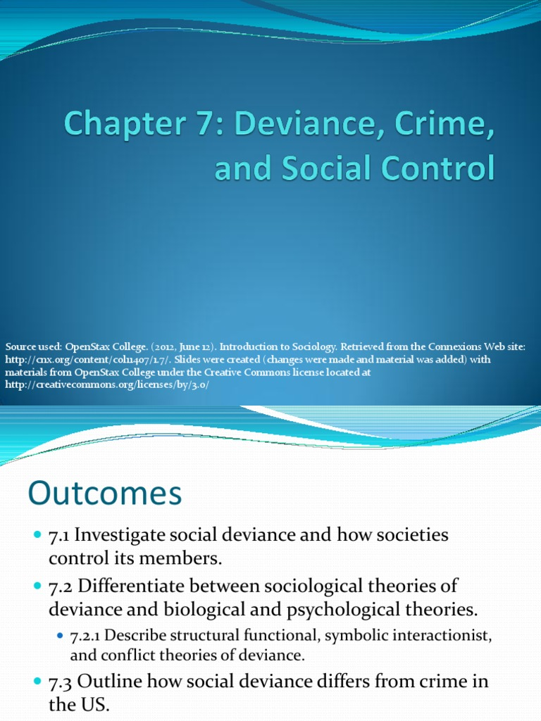 Chapter 7 Deviance Sociology Norm Social