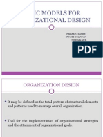 Basic Models for Organizational Design[1]