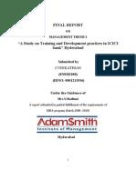 J.Venkatesh. Training & development practices in ICICI bank