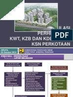 Kajian Formulasi Perhitungan KWT, KZB dan KDB dalam KSN Perkotaan