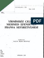 Yirmisekiz Celebi Mehmed Efendinin Fransa Sefaretnamesi (Haz. Beynun Akyavas).pdf