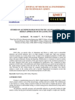 Studies on Aluminium Silicon Eutectic Alloy Casting and Design Approach of Its Gating System
