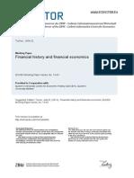 Financial History and financial economics