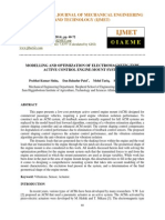 Modelling and Optimization of Electromagnetic Type Active Control Engine Mount System