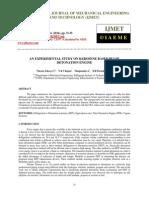 An Experimental Study on Kerosene Based Pulse Detonation Engine