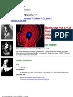(eBook - Psychology - NLP) Joseph R Plazo - Mastering the Art of Persuasion, Influence and Seduct