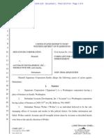 1.01 Signatours Corporation v Accurate Development Complaint