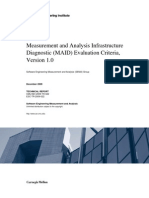 Measurement and Analysis Infrastructure Diagnostic (MAID) Evaluation Criteria, Version 1.0
