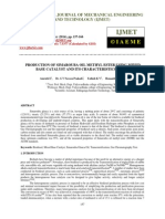 Production of Simarouba Oil Methyl Ester Using Mixed Base Catalyst and Its Characteristics Stud