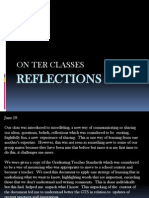 reflections  on ter classes