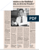 """""""Nuestra misión es dar fiabilidad a la economía, no detectar fraudes"""""""