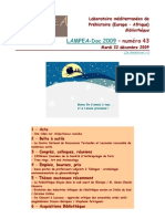 LAMPEA-Doc 2009 – numéro 43 / Mardi 22 décembre 2009