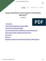 RME Realistic Mathematics Education Literature Review