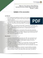 Transcript Incrementum Advisory Board October2014