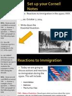 WEBNotes - Day 2 - 1920s - CivilRights - KKK
