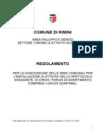 Regolamento per la concessione delle aree comunali