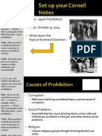 WEBNotes - Day 5 - 1920s - Prohibition - Causes and Effects - II